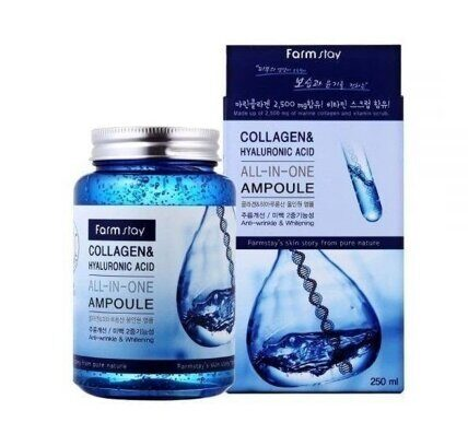 Farmstay Collagen & Hyaluronic Acid All-In-One Ampoule 250 гр. оптом